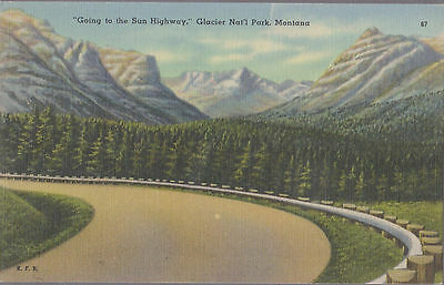 Going to the Sun Highway Glacier Nat'l Park Montana    #D23
