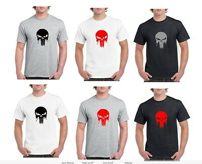 The Punisher DISTRESSED SKULL Plain Jane Logo T-Shirt Frank Castle Movie Comic