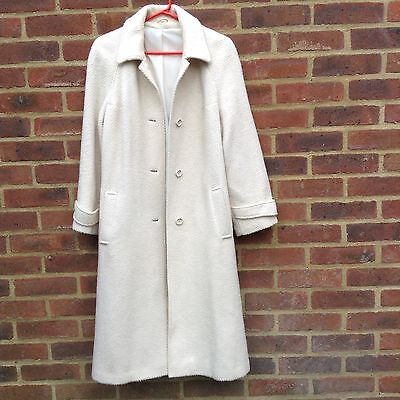 Original Miss Smith Vintage Wool Long Coat Winter White M Bloggers Chic Uk Made