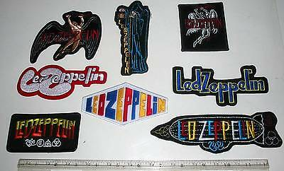 Led Zeppelin Logo Swan Collection of 8 Brand New Embroidered Patches