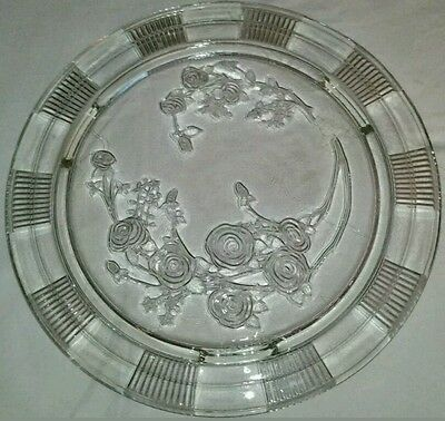 Antique Crystal Cake Plate.