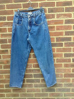 Vintage Guess High Waisted Jeans 100% Cotton Made In USA 32 X 30 On Trend Barrel