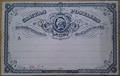 Guatemala 1875 & 1888 1/4 Real Pre-Stamped Postcards Washington DC US Print