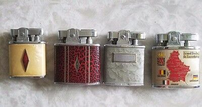 Lot of 4 Vintage lighters Omega, A.S.I., Ronson, Japan Mid Century