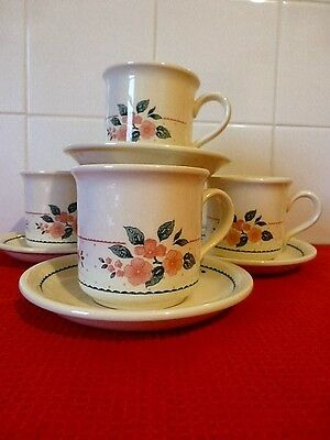 Staffordshire  England Tableware X 4 Cups X 4 Saucers