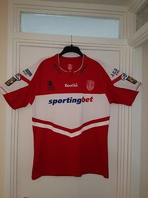 retro Hull Kingston Rovers rugby shirt size L