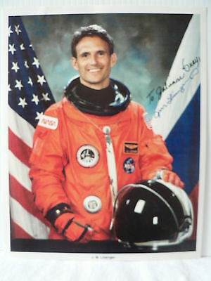 JERRY M. LINENGER NASA Astronaut  AUTOGRAPH SIGNED PHOTO 8  X 10