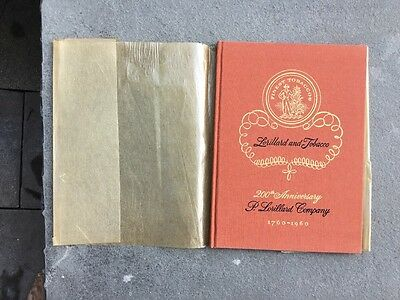 57 yr old Original 200th Anniversary Edition of Lorillard and Tobacco 1760-1960