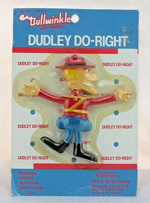 Bullwinkle and Friends Dudley Do Right Vintage 1985 Jesco Sealed on Card