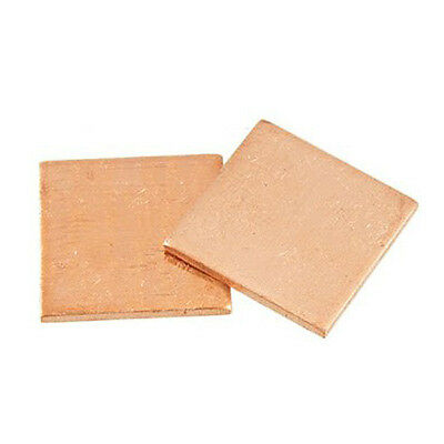 2Pcs 15 x 15 x1.2mm Thick Heatsink Thermal Pad Copper Shim for Laptop CPU G K5E1