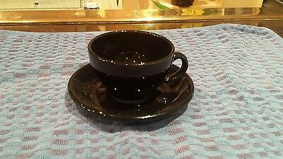 Black cups and saucers