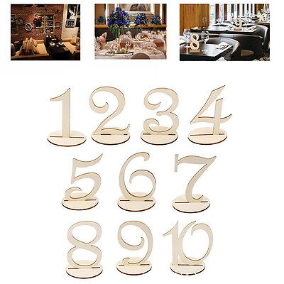 Hot Wedding Table Numbers 1-10 Wooden Seats Card Banquet Party Desk Decoration