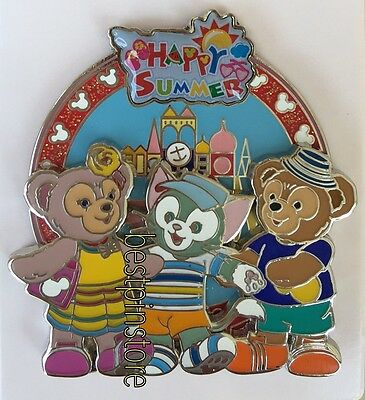 Disney pin - HKDL 2017 Happy Summer Series  - Duffy ShellieMay & Gelatoni