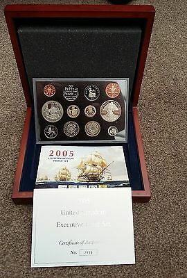 ROYAL MINT 2005 UK 12 COIN EXECUTIVE PROOF COLLECTION - boxed/coa