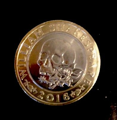 Very Rare Mint 2016 TWO POUND COIN £2 - William Shakespeare Tragedies