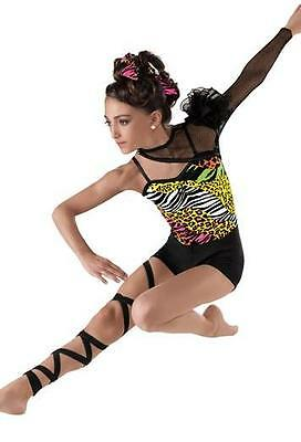 Dance Costume Medium Child Animal Print Leopard Unitard Jazz Solo Competition