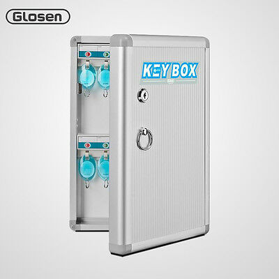 Glosen 24 Hooks Office Wall Mount Lock Box Key Cabinet Holder Storage Organizers