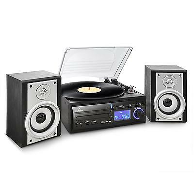 Auna Ds-2 Turntable Record Cd Mp3 Player Radio Hifi Stereo System Usb Recording