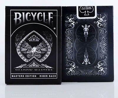 2x Bicycle SHADOW MASTERS Decks Of Playing Cards - new & sealed by Ellusionist