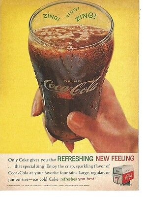 Vintage 1962 Magazine Print Ad Coca-Cola Coke Advertising  Fountain Drink GD 5X7