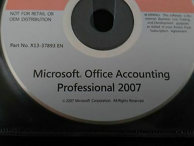 Microsoft Office Accounting Professional 2007 Full Install CD and Key