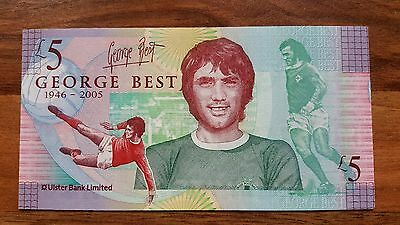 George Best £5 Pound Note . With Special Wallet . Uncirculated .