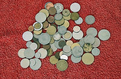 Bulk Lot Of World Coins And Tokens