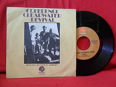 1972 CREEDENCE CLEARWATER REVIVAL Molina 7/45 NMINT PORTUGAL Unique Sleeve RARE