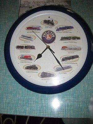 """Lionel Train - Wall Clock - 12 Different Sounds - Different Each Hour - 13"""""""