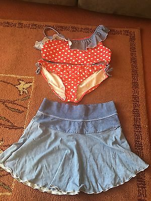 Girls Tanking/Bikini Set With Skirt Age 12-13 Years