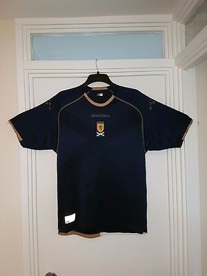 retro Scotland Diadora football shirt size L