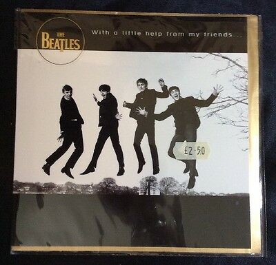 New The Beatles 2003 Apple Corps Card &Envelope W/ A Little Help From My Friends