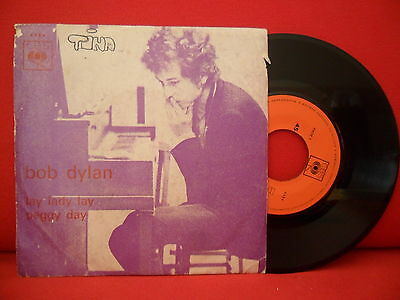 1969 BOB DYLAN Lay Lady Lay / Peggy Day 7/45 RARE PORTUGAL UNIQUE PICTURE SLEEVE
