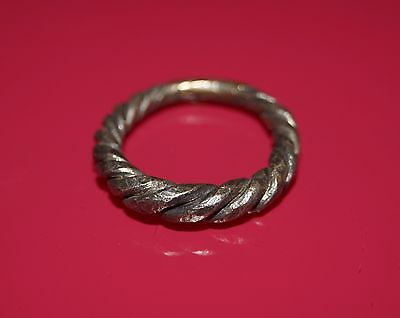 Beautiful Scandinavian Viking Hammered Silver Finger Ring. No Reserve!