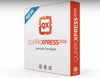 QuarkXPress 2016 (12.0) FULL - 2 installs Quark Xpress WIN/MAC (Multilingual)