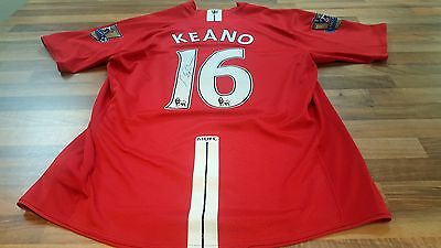 RARE ROY KEANE SIGNED MANCHESTER UNITED 16 FOOTBALL SHIRT WITH Picture PROOF