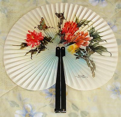 Vintage Metal/paper Hand Fan (China)