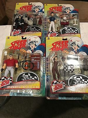 1999 Speed Racer Action Figure Complete set of 4 ReSaurus Series One collection
