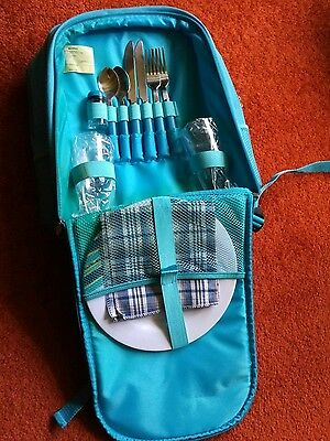 picnic hamper backpack. Fully equipped,with cool bag.Unopened. Unwanted gift.