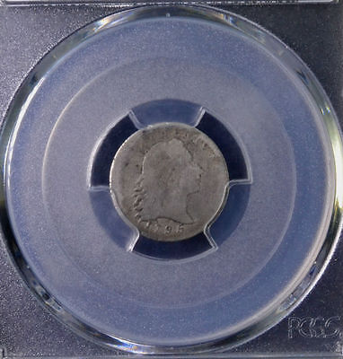 1795 H10C Flowing Hair Half Dime Damage LM-10 PCGS Genuine AG Details 32825079