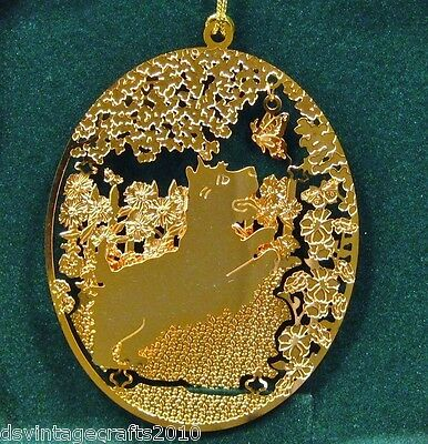 Cairn Terrier 24k Gold Plated Ornament New By Kingsheart Forge