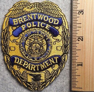Brentwood Missouri Police Patch (Highway Patrol, Sheriff, Ems, State)