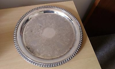 """12"""" silver plated drinks tray"""