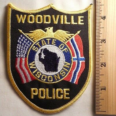 Woodville Wisconsin Police Patch (Highway Patrol, Sheriff, Ems)
