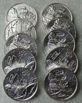 10 x 2 oz Silver Coin - Privateer The Storm - 1st Coin in Series