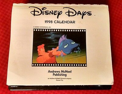 Vintage 1998 Disney Days Calendar...a Classic Disney Character On Every Page