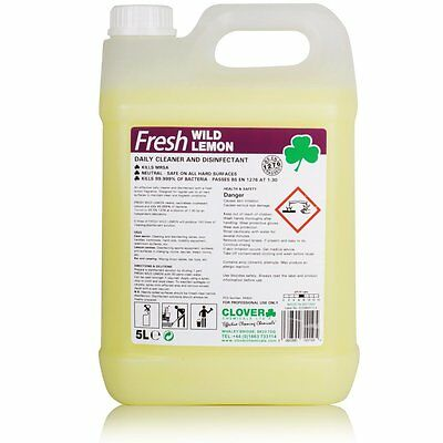 CLOVER FRESH WILD LEMON DAILY CLEANER & DISINFECTANT 4 x 5L