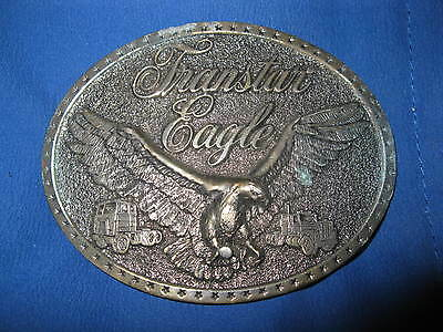 Vintage International Harvester TRANSTAR EAGLE Brass Belt Buckle