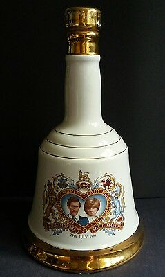 Charles and Diana Wedding Commemorative Wade Bell's Whisky Decanter Bell - Empty