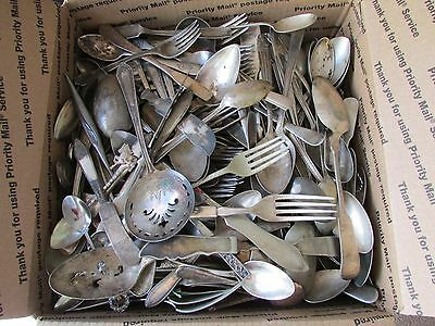 Large Mixed lot Vintage Silverplate Flatware ~ Hundreds of Pieces ~ Over 40lbs